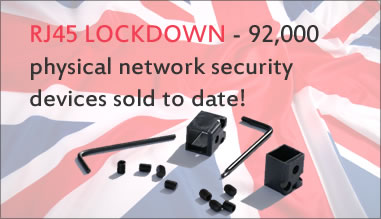 RJ45 Lockdown - 35,000 physical network security devices sold to date!
