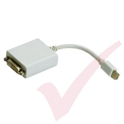 Mini Display Port Male to DVI Adapter 15cm White