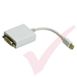Mini Display Port Male to DVI Adapter 15cm White