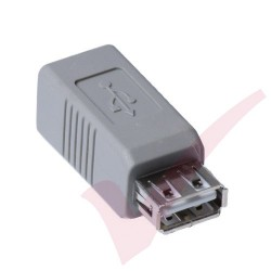 Grey - USB 2.0 A Female to B Female Gender Changer Coupler