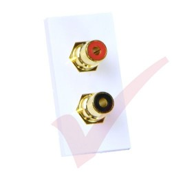 2x RCA Moduler Coupler, Red & Black