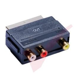 Scart Male - 3x RCA Female Output