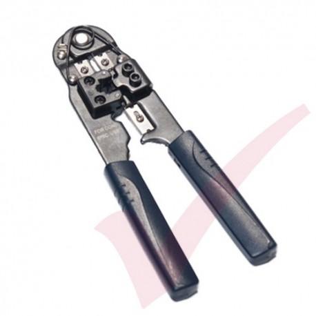 RJ45 & RJ11 Crimp Tool, Stripper & Cutter