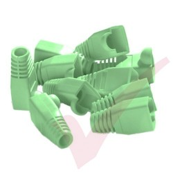 RJ45 Snagless Bubble Boot, 10 Pack Green