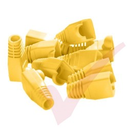 RJ45 Snagless Bubble Boot, 10 Pack Yellow