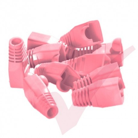 RJ45 Snagless Bubble Boot, 10 Pack Pink