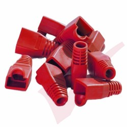 RJ45 Snagless Bubble Boot, 10 Pack Red
