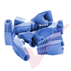 RJ45 Snagless Bubble Boot, 10 Pack Blue