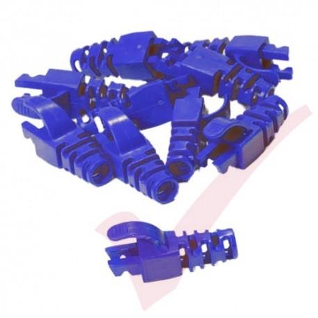 Snagless Slimline Crimp High Density 6MM Boot, 10 Pack Blue