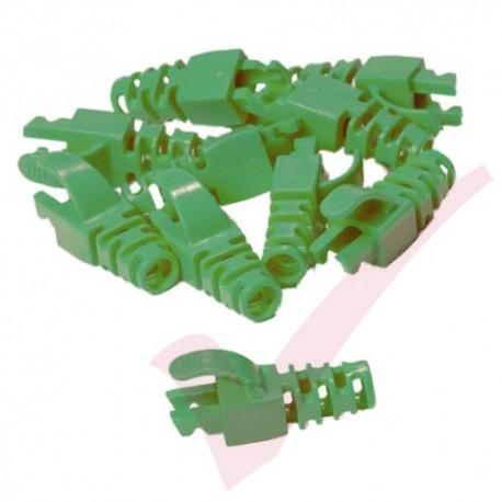Snagless Slimline Crimp High Density 6MM Boot, 10 Pack Green