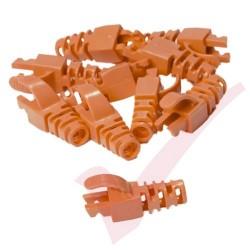 Snagless Slimline Crimp High Density 5.5MM Boot 10 Pack Orange