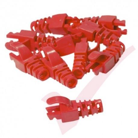 Snagless Slimline Crimp High Density 6MM Boot, 10 Pack Red