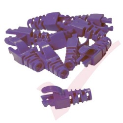 Snagless Slimline Crimp High Density 6MM Boot, 10 Pack Purple