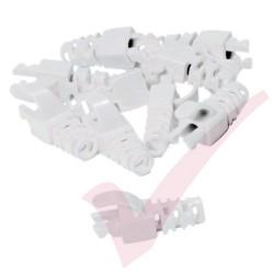 Snagless Slimline Crimp High Density 5.5MM Boot 10 Pack White