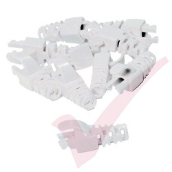 Snagless Slimline Crimp High Density 6MM Boot, 10 Pack White