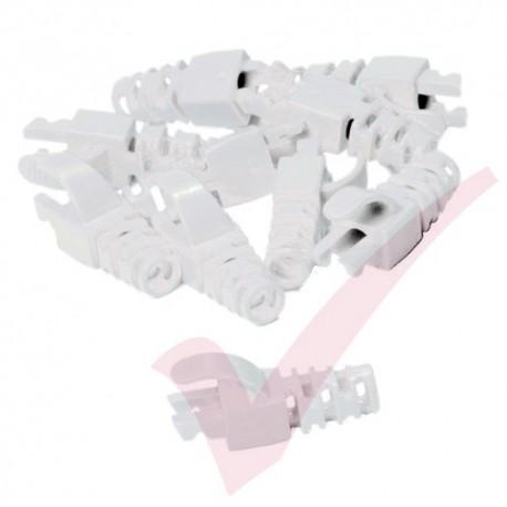 Snagless Slimline Crimp High Density 6MM Boot, 10 Pack White