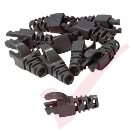 Snagless Slimline Crimp High Density 6MM Boot, 10 Pack Black