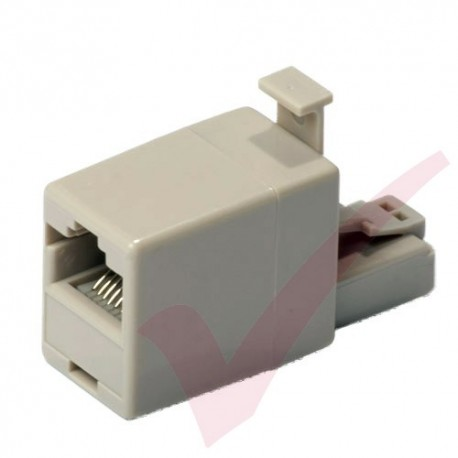 RJ45 M - F Crossover Adapter - Beige
