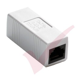 RJ45 Cat5e Straight Coupler - White