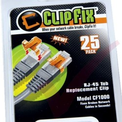 Clip Fix 25 Pack RJ45 Tab Replacement Clip CF1000