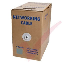 Grey Stranded Cat6 Premium UTP 4 Pair 24Awg 305 Metre with PVC Sheath in Pull Box
