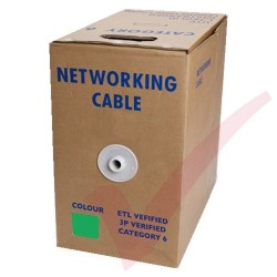 Green Stranded Cat6 Premium UTP 4 Pair 24Awg 305 Metre with PVC Sheath in Pull Box