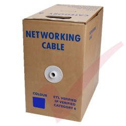 Blue Stranded Cat6 Premium UTP 4 Pair 24Awg 305 Metre with PVC Sheath in Pull Box