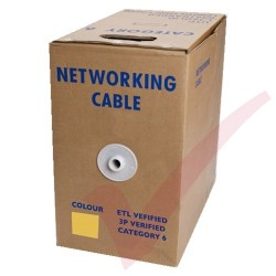 Yellow Stranded Cat6 Premium UTP 4 Pair 24Awg 305 Metre with PVC Sheath in Pull Box