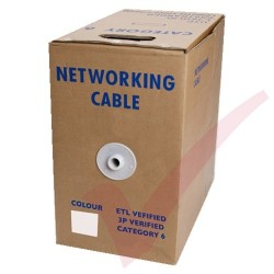 White Stranded Cat6 Premium UTP 4 Pair 24Awg 305 Metre with PVC Sheath in Pull Box