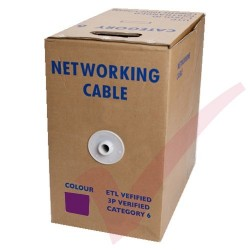 Purple Stranded Cat6 Premium UTP 4 Pair 24Awg 305 Metre with PVC Sheath in Pull Box