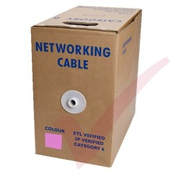 Pink Stranded Cat6 Premium UTP 4 Pair 24Awg 305 Metre with PVC Sheath in Pull Box