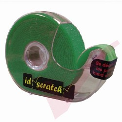 2.5 Metre Dark Green ID Scratch 3P Reel Hook & Loop in Dispenser - IDS-DG-BOX-2.5