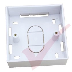 Single Gang PVC Back Box, 32mm Depth
