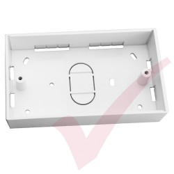 Double Gang PVC Back Box, 32mm Depth