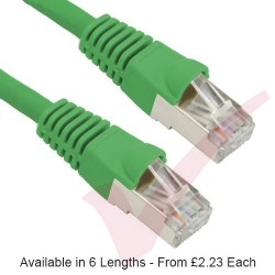 Green - RJ45 Cat5e FTP 26AWG PVC Enhanced Plus Bubble Boot Patch Cable