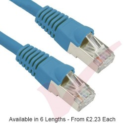 Blue - RJ45 Cat5e FTP 26AWG PVC Enhanced Plus Bubble Boot Patch Cable
