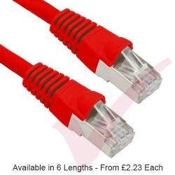 Red - RJ45 Cat5e FTP 26AWG PVC Enhanced Plus Bubble Boot Patch Cable