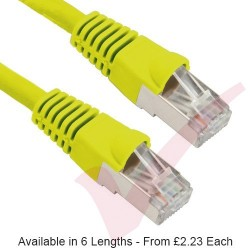 Yellow - RJ45 Cat5e FTP 26AWG PVC Enhanced Plus Bubble Boot Patch Cable