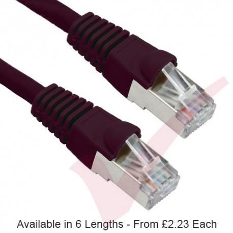 Black - RJ45 Cat5e FTP 26AWG PVC Enhanced Plus Bubble Boot Patch Cable