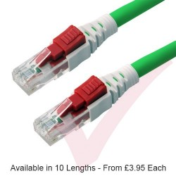 Cat6 Patch Cables RJ45 UTP Lockable LSZH Green