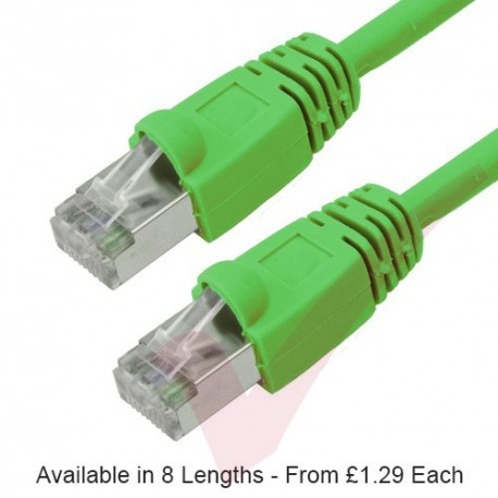 Green - RJ45 Cat6 FTP 26AWG LS0H Premium Bubble Boot Patch Cable