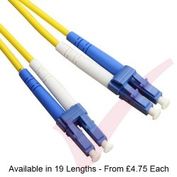 Yellow LC - LC OS2 Singlemode Fibre Patch Lead 9/125, Enhanced LS0H 2.8mm Sheath
