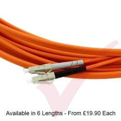 Orange - Patch Rapido OM3 Flat Twin LC-LC, LS0H ruggedized 7.5mm Sheath, duplex Patch Cord