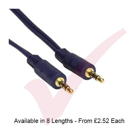 Dark Blue - 3.5mm Stereo Male - Male Audio Cable
