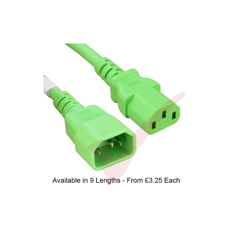 Green Power Cable : C to premium sjt power cable fluo green patchsave