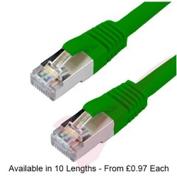 Green - RJ45 Cat6a (10G) F-STP LSZH Premium High Density Boot Patch Cable