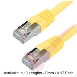 Yellow - RJ45 Cat6a (10G) F-STP LSZH Premium High Density Boot Patch Cable