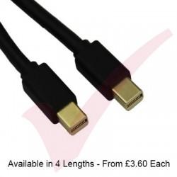 Black - Mini Display Port Male - Mini Display Port Male