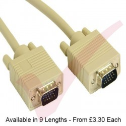 Beige - SVGA HD15 Male-Male Cable