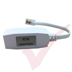 PSTN Full Master Leaded 0.2Mtr Adapter RJ45  - BT Socket White